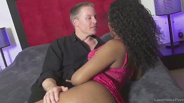 Black man and white woman