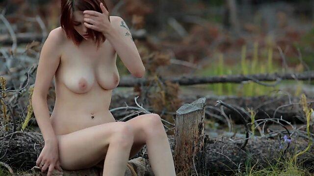 Masturbation in forest