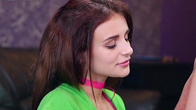 skinny brunette anal