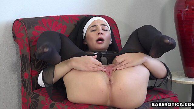 Lady in nylon