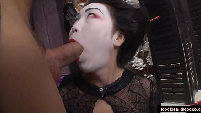 Asian anal threesome