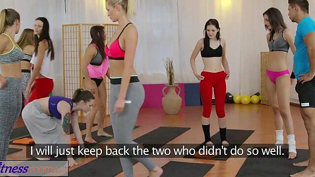 Gym threesome