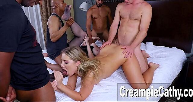 orgy creampie