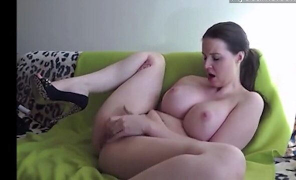 busty masturbation