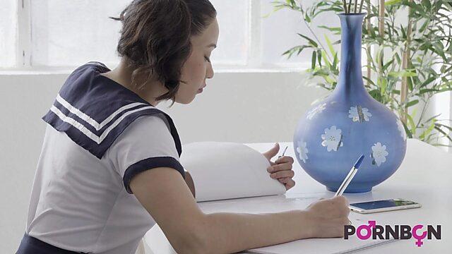 Japan school girl