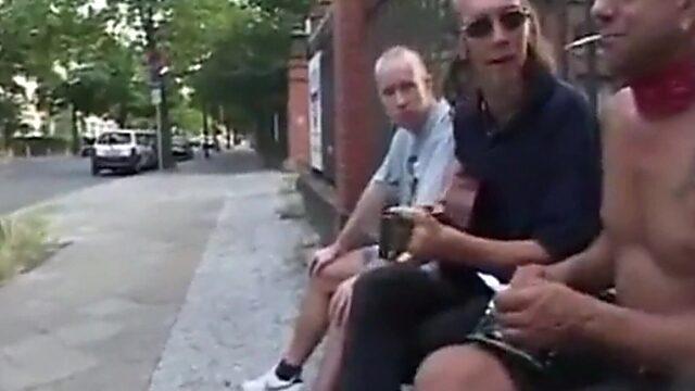 Gangbang outdoor