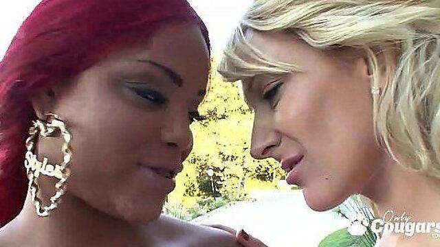 black white lesbians