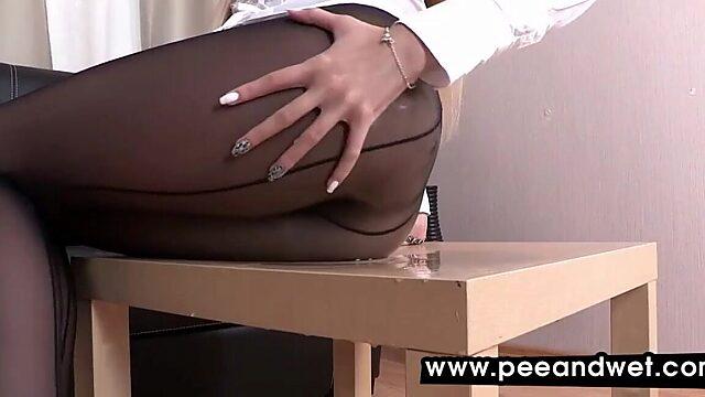 pantyhose piss