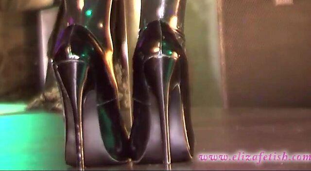 Latex High Heels