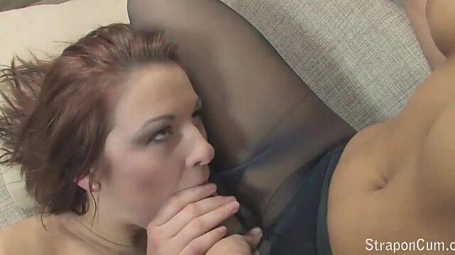 pantyhose blowjob