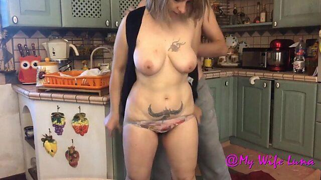 wife kitchen
