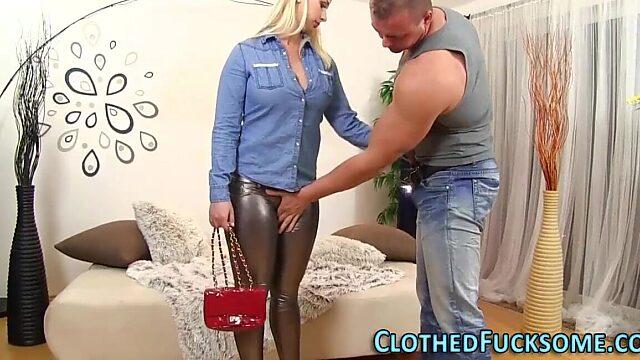 clothed blowjob
