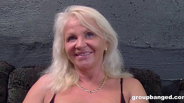 Granny bukkake