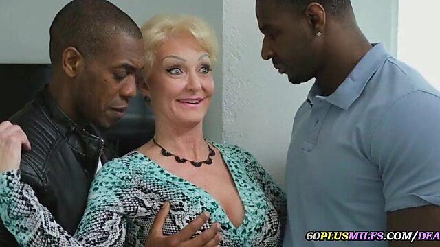 Granny black cock