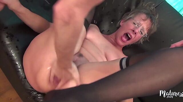 mature double anal