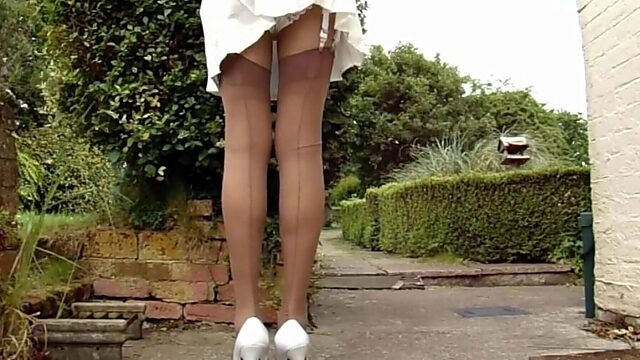 Windy Day Panty Flash