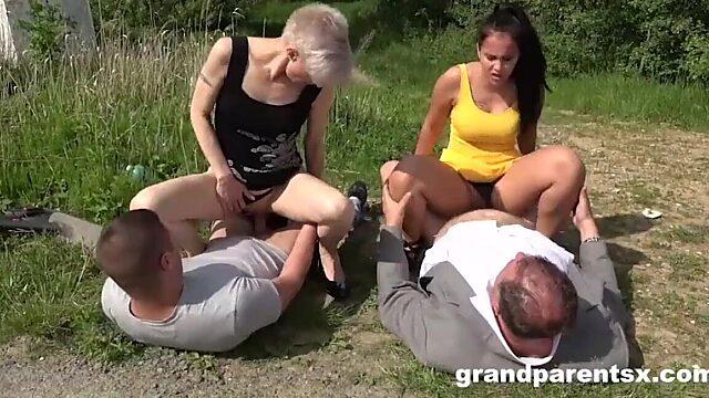 mature granny creampie