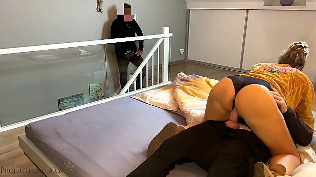 husband watches